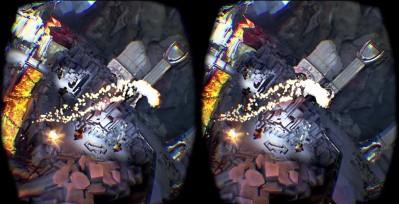 Wrażenie przestrzeni i efekt głębi potęguje stereoskopowa wizualizacja, w której każde oko widzi obraz z innej perspektywy (tu: gogle Oculus Rift).