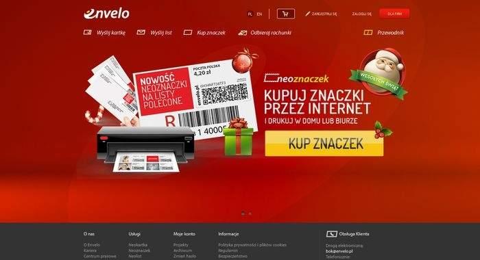 Strona domowa platformy Envelo
