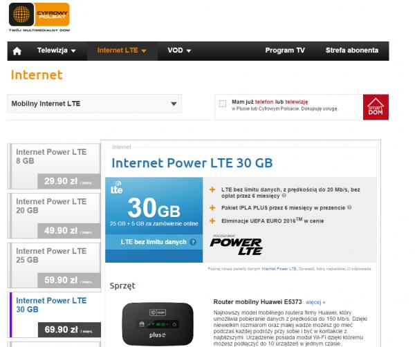 """""""LTE bez limitu danych"""" Czy można to pomylić z szybkością?"""