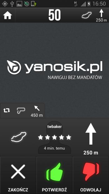 """Yanosik jest jednąz najlepszych aplikacji """"antyradarowych"""" dostępną na Androida, iOS, Windows Phone i nawet BlackBerry OS"""