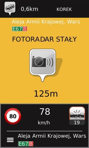 RadarStop wymienia informacje zgłaszane przez użytkowników z MapąMap