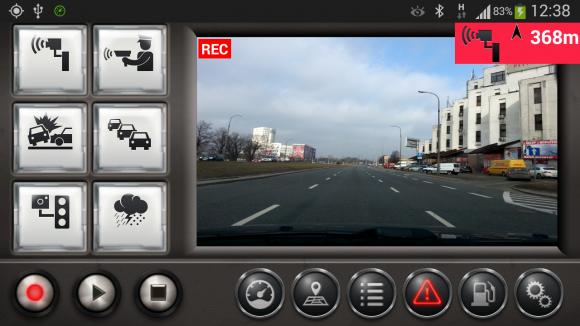 Izzy Drive może pełnić funkcję wideorejestratora