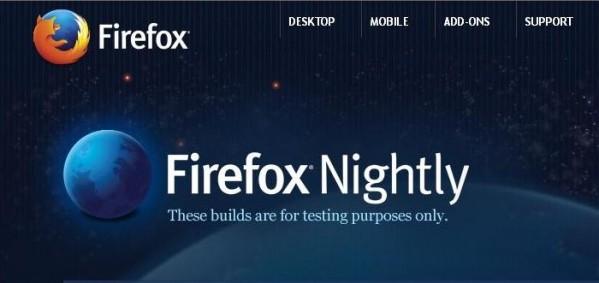 """Grafika z oficjalnej strony z """"nocnymi"""" buildami Firefoxa"""