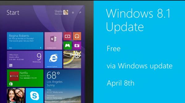 Reklama poprzedniej aktualizacji Windows 8.1 (foto: Microsoft)