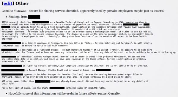 Jeden z tajnych dokumentów w sprawie operacji HIGHLAND FLING (źródło: The Intercept)