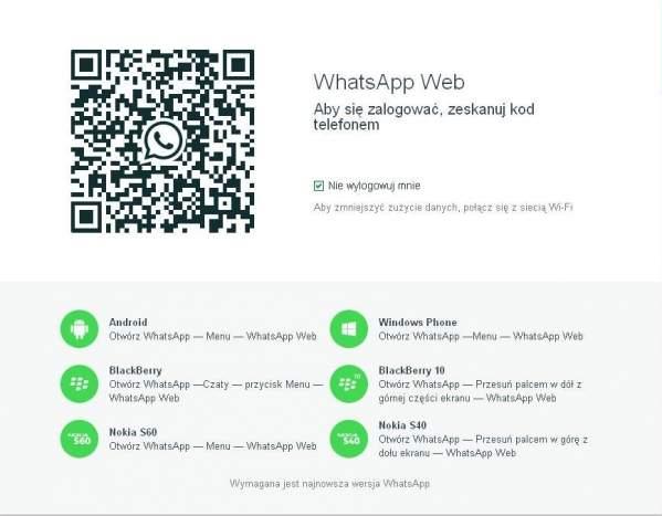 WhatsApp Web - strona komunikatora