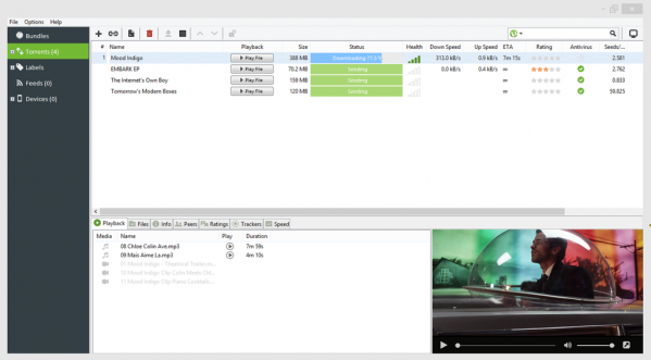 uTorrent w działaniu (grafika: oficjalna strona)