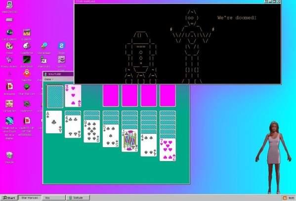 Windows 93 - film, pasjans, a nawet wirtualna dziewczyna (foto: własne)