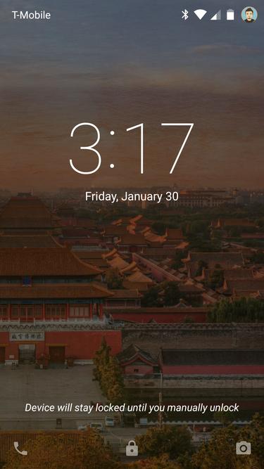 Zablokować telefon w trybie Smart Lock możesz przytrzymując ikonę kłódki