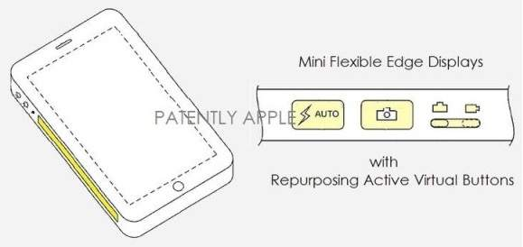 Apple - smartfon z ekranem bocznym (źródło: patft.uspto.gov)
