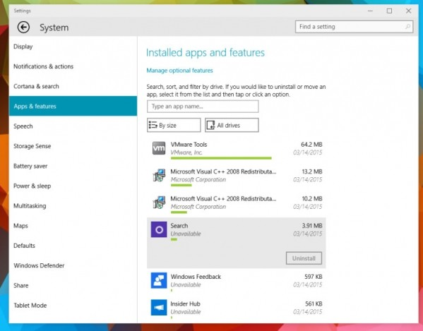 Windows 10 build 10036