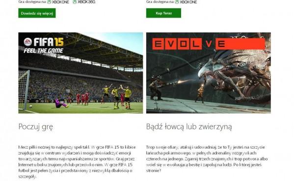 Polska strona sklepu Xbox (foto: własne)