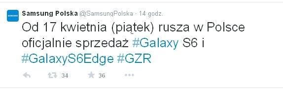 Galaxy S6 i Galaxy S6 Edge w Polsce