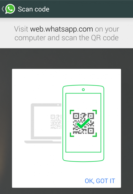 WhatsApp - skanowanie kodu