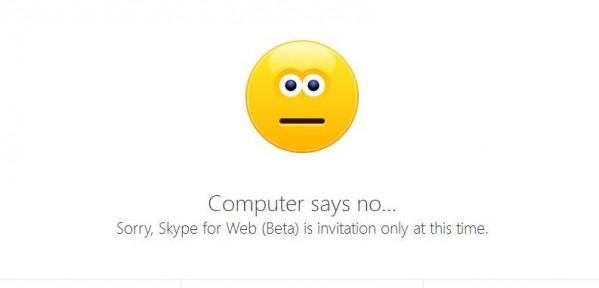 Skype for Web póki co nie dla Ciebie (foto: własne)