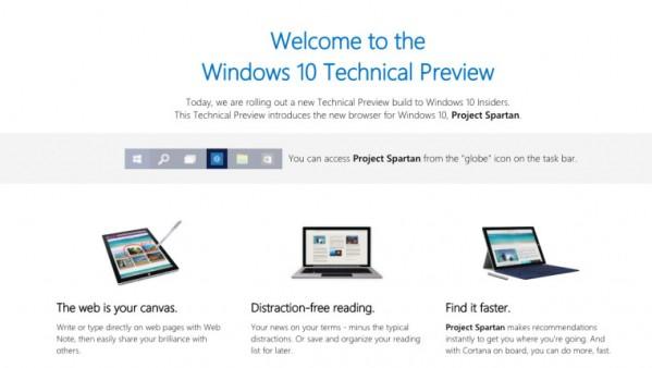 Ukazał się Windows 10 build 10049, a przeglądarka Spartan wraz z nim