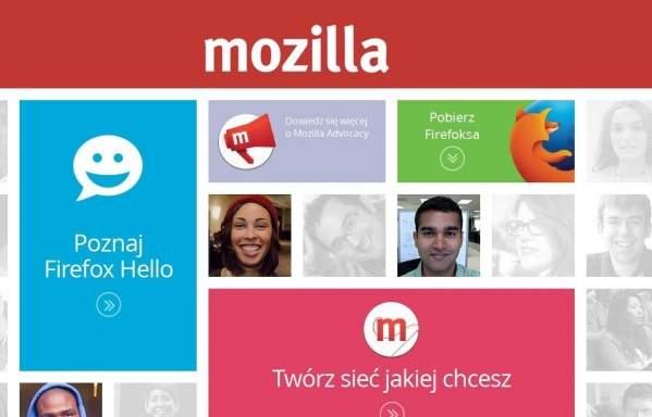 Strona Mozilli (foto: własne)
