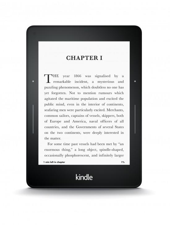 """Kindle Voyage ma możliwość trzystopniowej regulacji reakcji przycisków na dotyk oraz siły """"wibracji"""" która informuje użytkownika o dotknięciu przycisku (cztery stopnie)."""