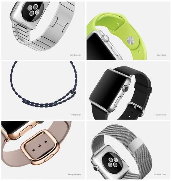 Różne warianty Apple Watch