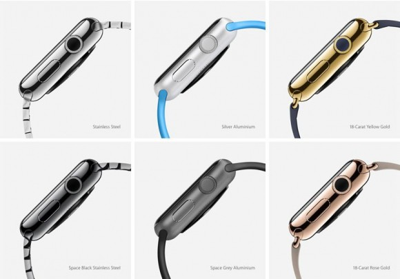 Apple Watch występuje w wielu różnych kolorach