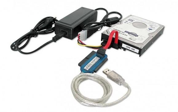 Twardy dysk IDE – za pomocą specjalnej przejściówki możesz uzyskać dostęp do danych zgromadzonych na takim dysku, aby skopiować go do komputera, który jest wyposażony tylko w złącza SATA.