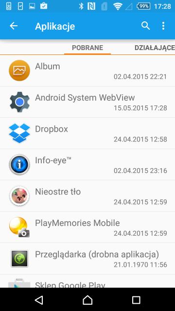 Listę wszystkich zainstalowanych aplikacji można odnaleźć w ustawieniach