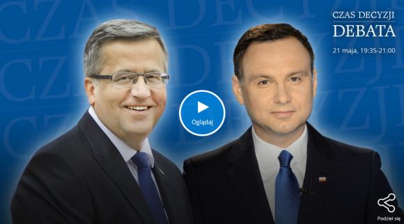Debata Duda - Komorowski online w Player.pl