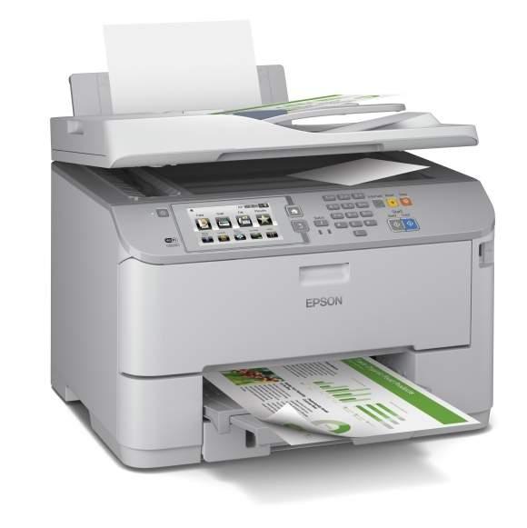 Epson WF-M5690DWF dzięki wkładom atramentowym XXL pozwala na wydrukowanie do 10 000 stron. To jedno z najlepszych urządzeń atramentowych w swoim przedziale cenowym. Posiada w standardzie funkcję dwustronnego drukowania, podajnik dokumentów z opcja dwustronnego kopiowania, oraz faks.