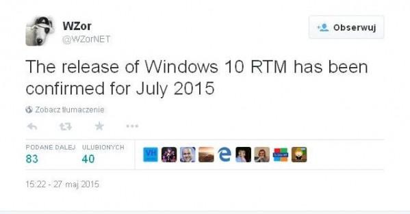 Windows 10 RTM w lipcu - twierdzą... hakerzy