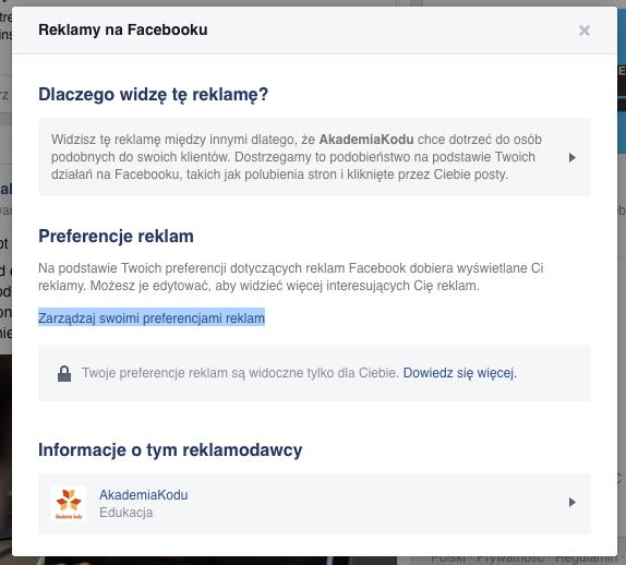 Facebook: zarządzanie reklamami