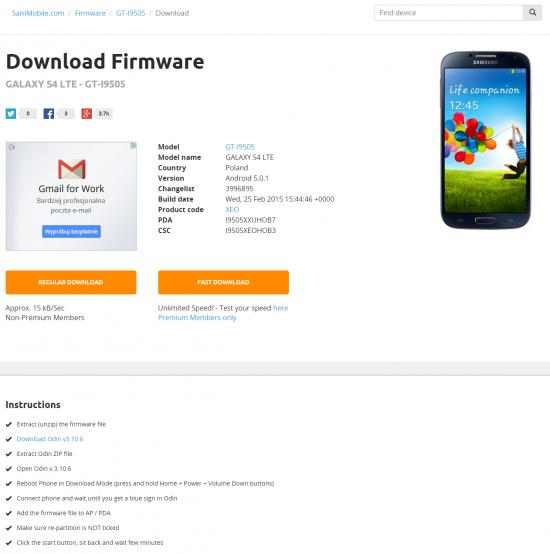 Android 5.0.1 - jak wrócić do poprzedniej wersji (Android 4.4.2)
