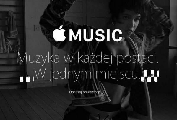 Strona Apple Music po polsku