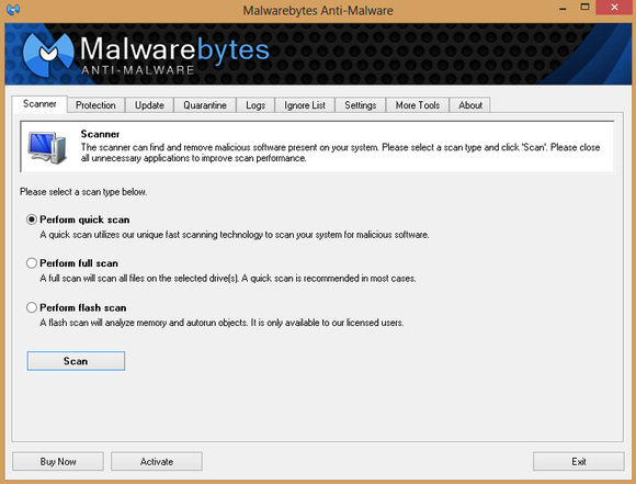 Malwarebytes Anti-Malware w akcji