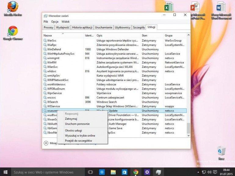 Restart Windows Update