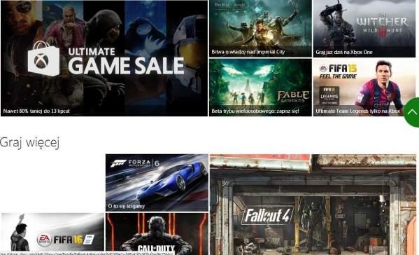 Polska strona Xbox One