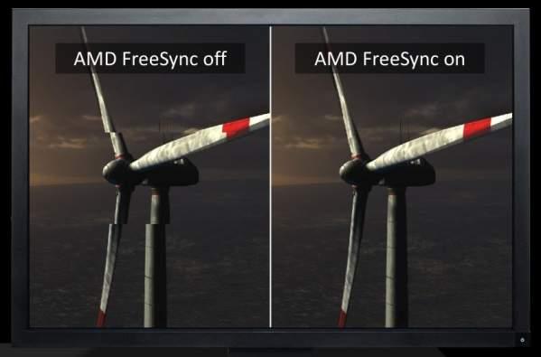 FreeSync wyłączony i włączony