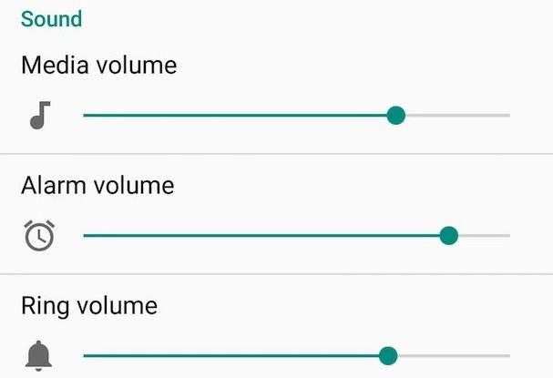 Kilka suwaków głośności