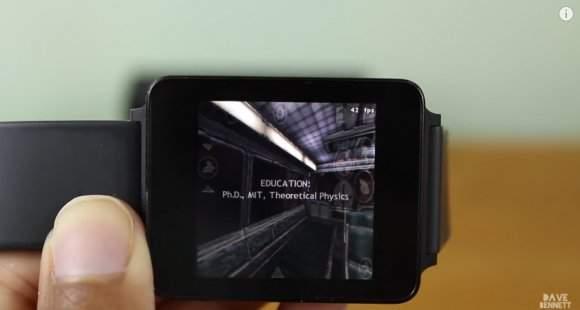 Half-Life uruchomiony na zegarku
