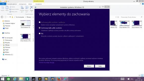 Proces aktualizacji do Windows 10