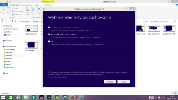 Proces aktualizacji do Windows 10