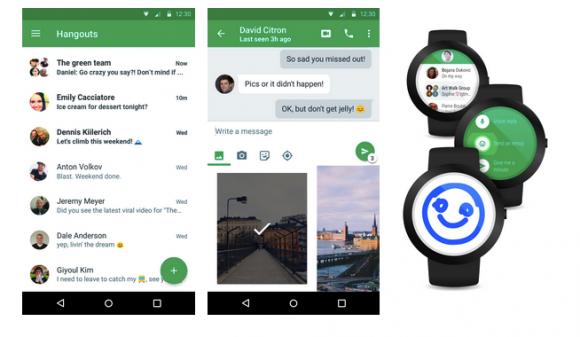 Hangouts 4.0 do Androida i Android Wear