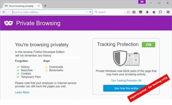 Tryb Prywatny w ulepszonej wersji (foto: Mozilla)