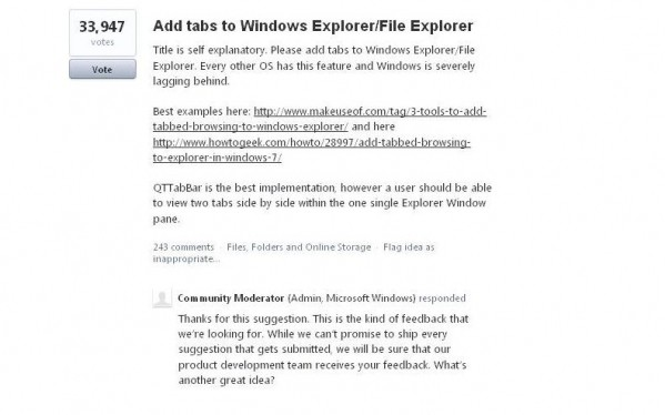 Jedno z popularnych żądań użytkowników - zakładki w Eksploratorze Plików