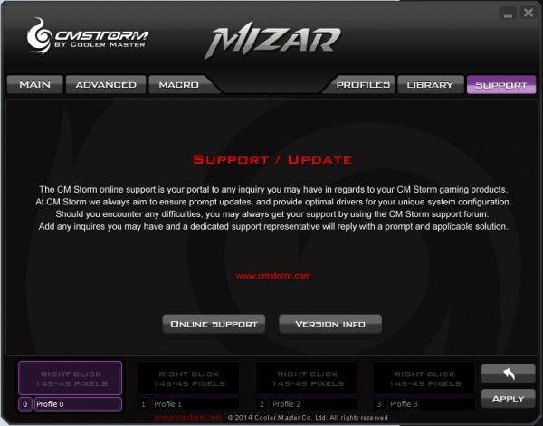 Cooler Master Mizar SGM-4005 - Oprogramowanie