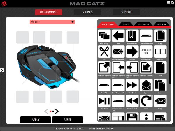 Mad Catz M.M.O. TE - Oprogramowanie