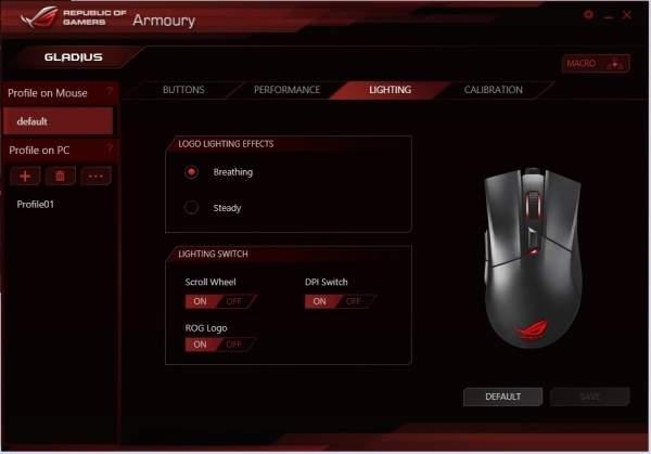 Asus ROG Gladius - Oprogramowanie