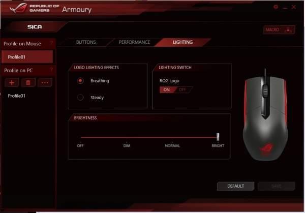 Asus ROG Sica - oprogramowanie