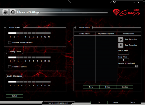 Natec  Genesis GX57 - Oprogramowanie