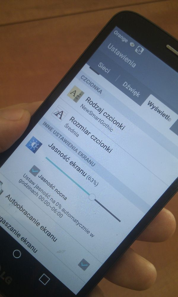 Android Lollipop: ustawianie poziomu jasności podświetlenia ekranu