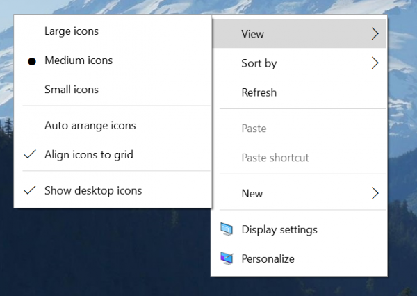 Windows 10 build 10532 - nowe menu kontekstowe